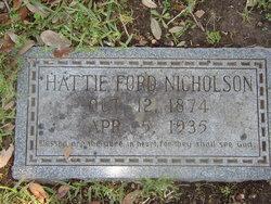"Dorcus Hester ""Hattie"" <I>Ford</I> Nicholson"