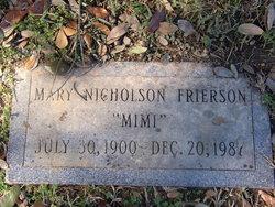 "Mary Youngblood ""Mimi"" <I>Nicholson</I> Frierson"