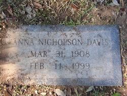 Anna Walker <I>Nicholson</I> Davis