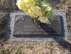 "Martha Elizabeth ""Betty"" <I>Wood</I> Aldridge"