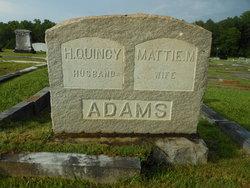 """Martha Matilda """"Mattie"""" <I>Brooks</I> Adams"""
