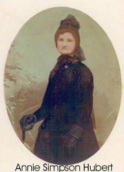 Mrs Anne <I>Simpson</I> Hubert