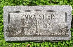 Emma M <I>Ansback</I> Stier