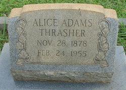 Alice <I>Adams</I> Thrasher