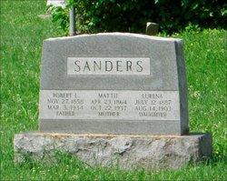 "Martha Ann ""Mattie"" <I>McDanell</I> Sanders"