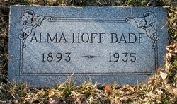 Alma <I>Hoff</I> Bade