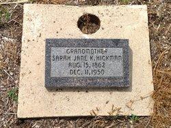 "Sarah Jane ""Sadie"" <I>Keplinger</I> Hickman"