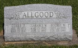 Clara E <I>King</I> Allgood