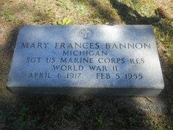 Mary Frances Bannon