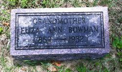 """Elizabeth Ann """"Eliza"""" <I>Garrison</I> Bowman"""