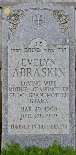 Evelyn <I>Yurman</I> Abraskin