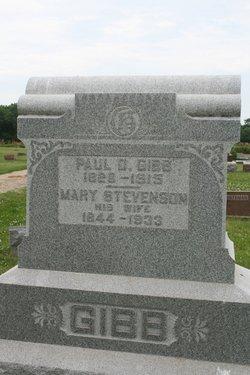Mary <I>Stevenson</I> Gibb