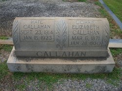 Corrie Elizabeth <I>Black</I> Callahan