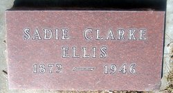 Sadie Olive <I>Clarke</I> Ellis