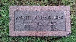Annette Burleson Bond