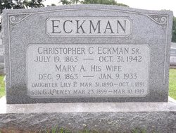 Christopher Columbus Eckman, Sr