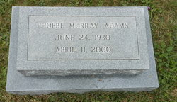 Phoebe Jane <I>Murray</I> Adams