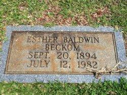 Esther <I>Baldwin</I> Beckom