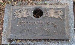 Gertrude D King