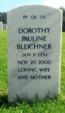 Dorothy Pauline <I>Drennan</I> Bleichner