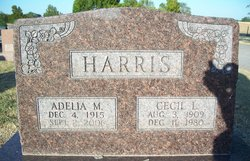 Adelia May <I>Hargett</I> Harris