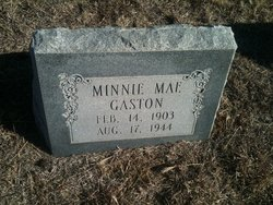 Minnie Mae <I>Steadman</I> Gaston