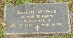 Joseph M Page