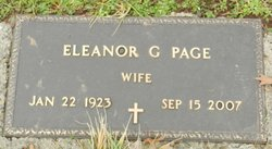 Eleanor G Page