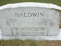 "Nancy Elizabeth ""Nannie"" <I>Elliott</I> Baldwin"