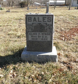 Alice Cordelia <I>Minor</I> Bales