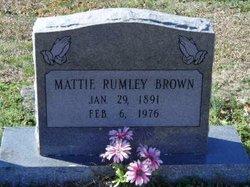 Mattie <I>Rumley</I> Brown