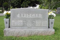 Alice Elizabeth <I>Cassady</I> Bridges