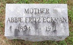 Abbie A <I>Fritz</I> Eckman