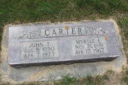 Myrtle Elizabeth <I>Winters</I> Carter