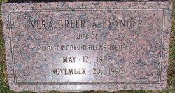 Vera <I>Greer</I> Alexander