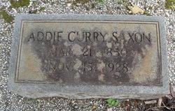 Addie <I>Curry</I> Saxon
