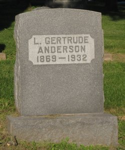 """Laura Gertrude """"Gertrude"""" <I>Gardner</I> Anderson"""