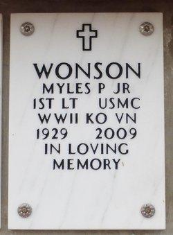 Myles Parker Wonson, Jr