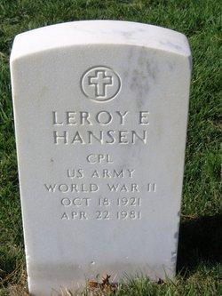 Leroy E Hansen