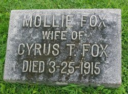 "Mary Boone ""Mollie"" <I>Parish</I> Fox"