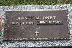 Annie <I>Freeman</I> Oney