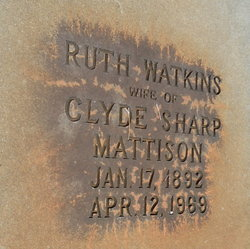 Ruth <I>Watkins</I> Mattison