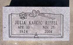 Julia <I>Kavcic</I> Riffel