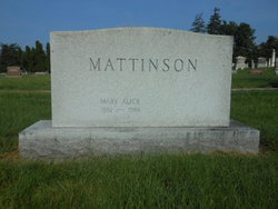 Mary Alice <I>Weisheimer</I> Mattinson