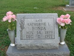 """Katherine Louise """"Kate"""" <I>Wuhrman</I> Fonda"""