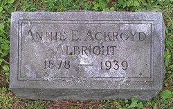 Annie E. <I>Ackroyd</I> Albright