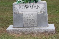 Violan Elizabeth <I>Noonkester</I> Bowman