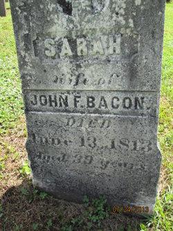 Sarah <I>Galusha</I> Bacon