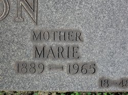 Marie <I>Kaiser</I> Peterson