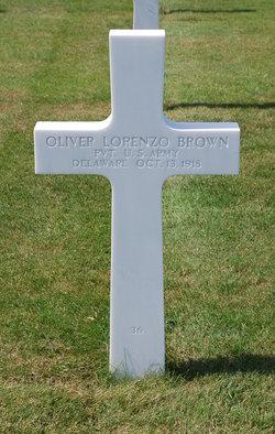 Pvt Oliver Lorenzo Brown
